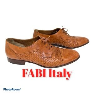 FABI Italy Weaved Handcrafted Leather 44 1…
